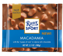 Ritter Sport Macadamia In Milk Chocolate 100g